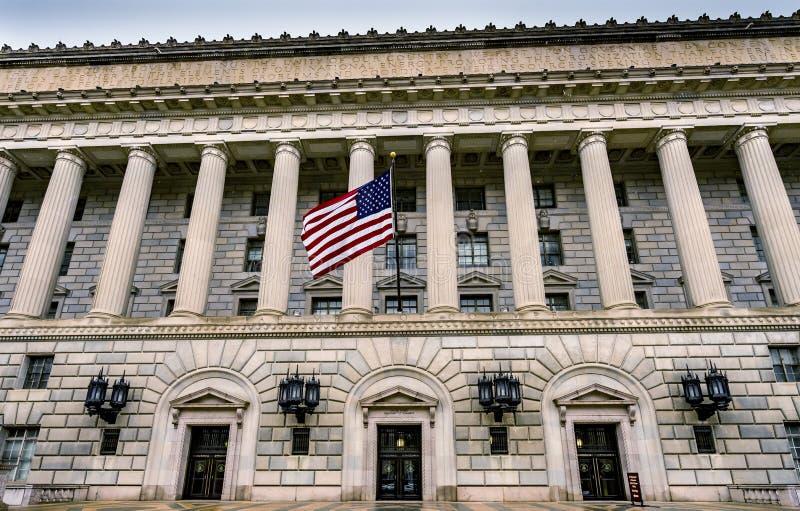 赫伯特・胡佛大厦商务部第14街道华盛顿特区 免版税图库摄影