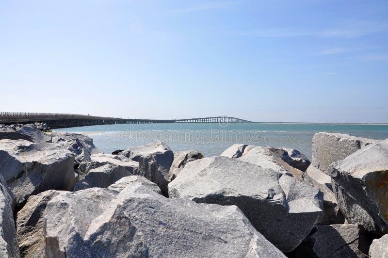 赫伯特C邦纳桥梁,北卡罗来纳,美国 免版税库存照片