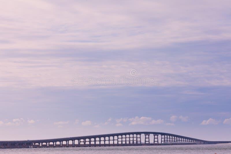 赫伯特C邦纳桥梁OBX北卡罗来纳 库存照片