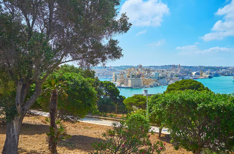 赫伯特Ganado庭院, Floriana,马耳他 免版税库存照片