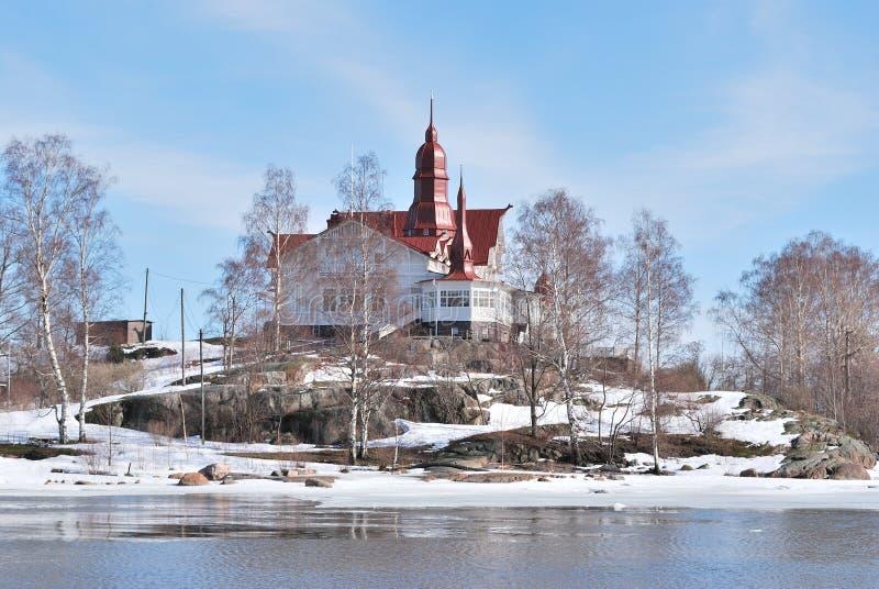赫尔辛基海岛luoto 库存图片