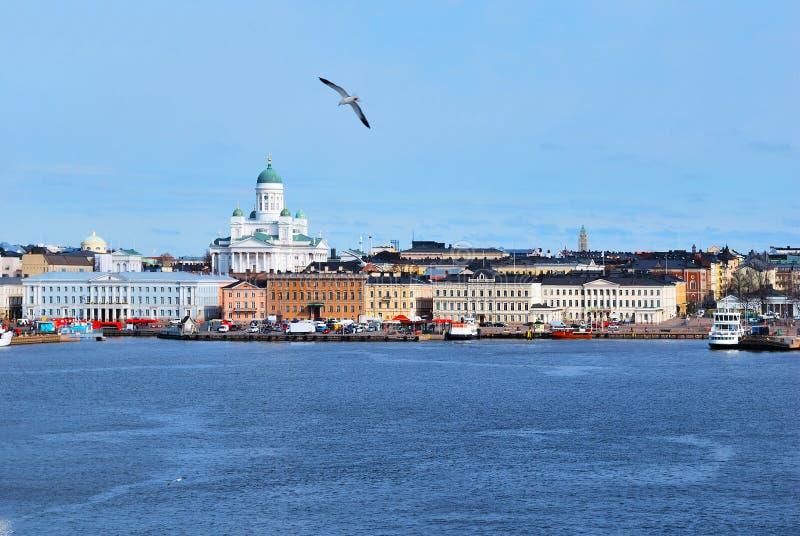 赫尔辛基海运视图 库存照片