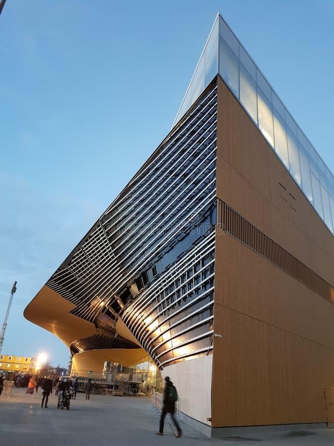 赫尔辛基,芬兰Oodi新的中央图书馆  库存图片