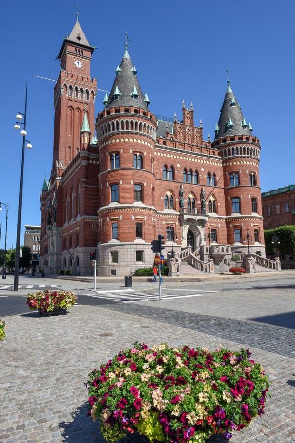 赫尔辛堡城镇厅瑞典的 库存照片