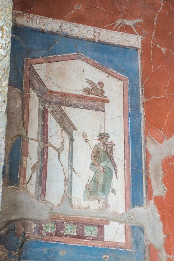 赫库兰尼姆忍受的艺术品和设计  免版税库存图片