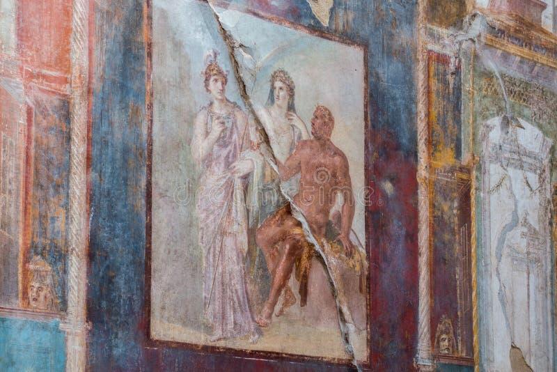 赫库兰尼姆忍受的艺术品和设计  库存图片