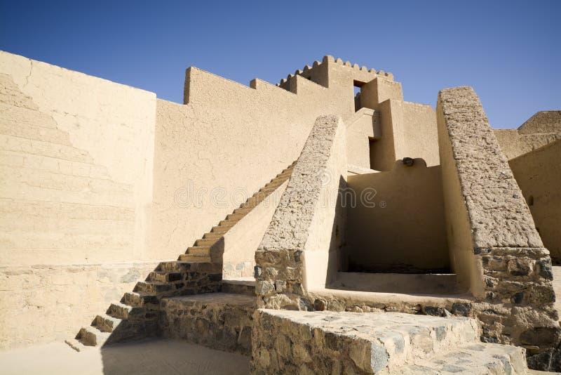 巴赫莱要塞在阿曼 库存图片