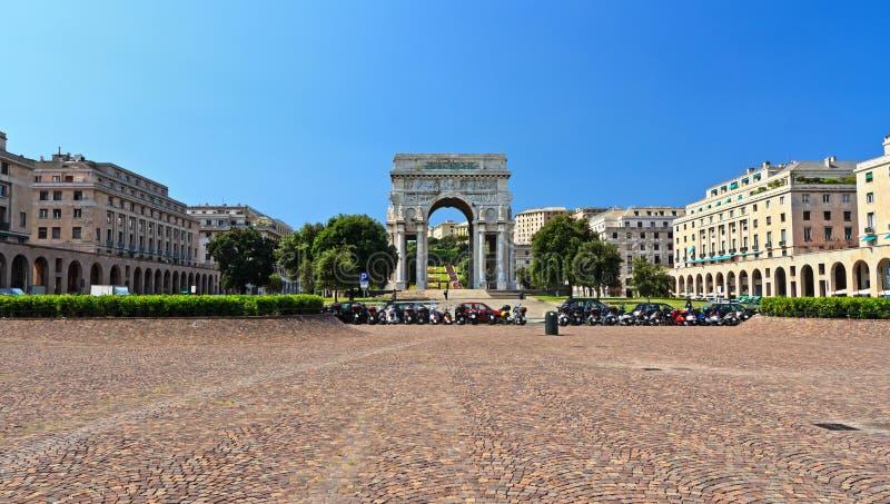 赫诺瓦-广场della Vittoria 库存照片