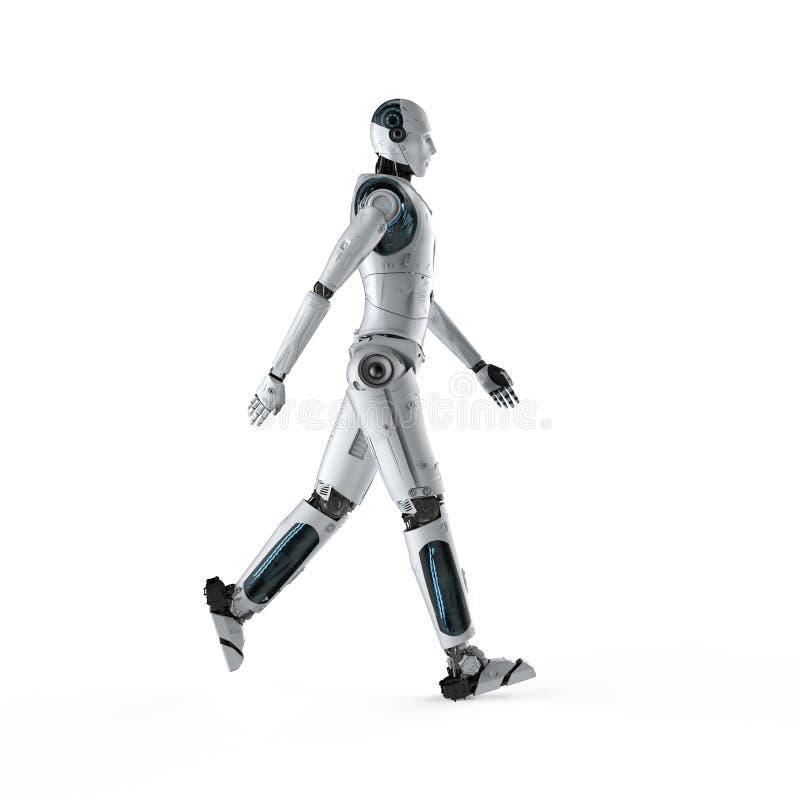 走充分的身体的机器人 库存例证