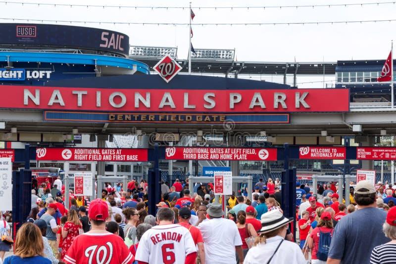 走入国民棒球场在华盛顿D C 在4t 库存照片
