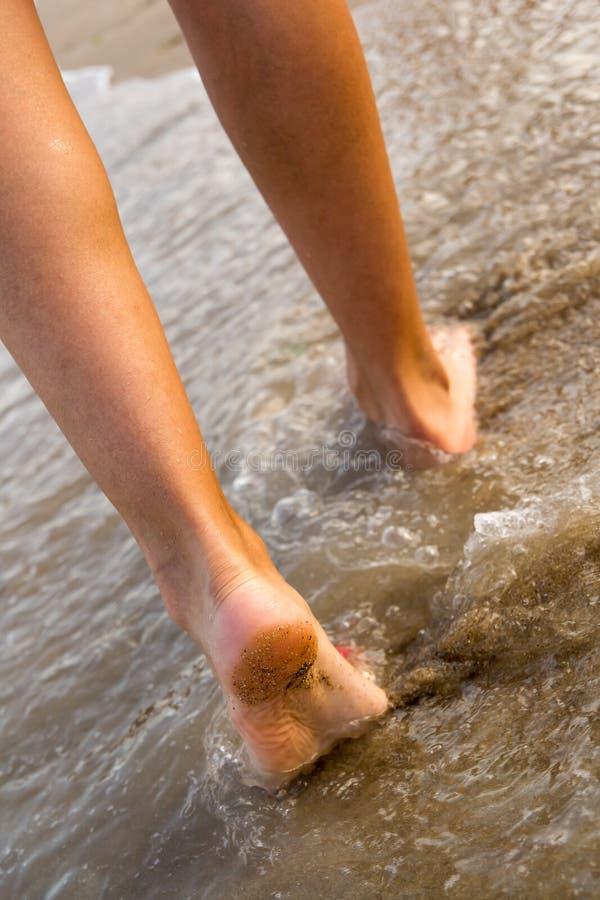 走在海滩 免版税图库摄影