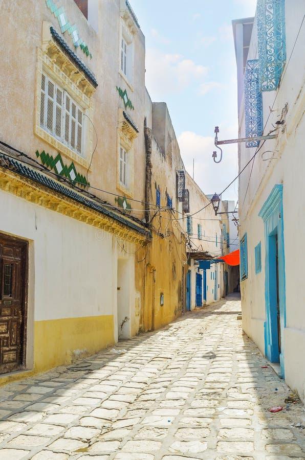 走在苏斯麦地那,突尼斯 库存照片