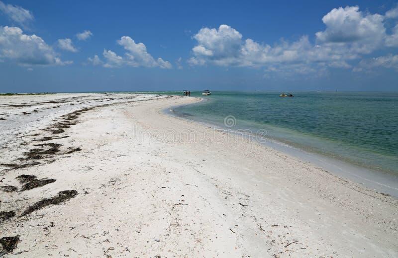 走在Caladesi海岛上 图库摄影
