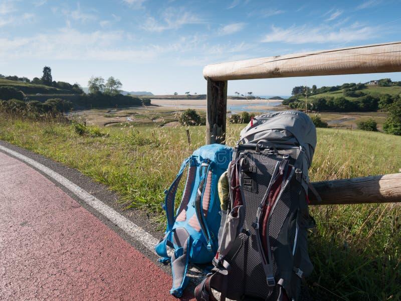 走在Camino de圣地亚哥 库存图片