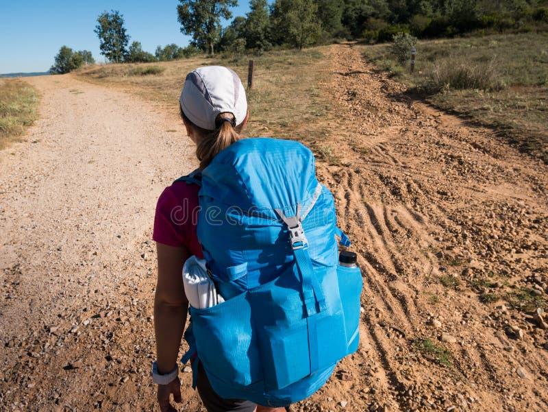 走在Camino de圣地亚哥 免版税库存照片