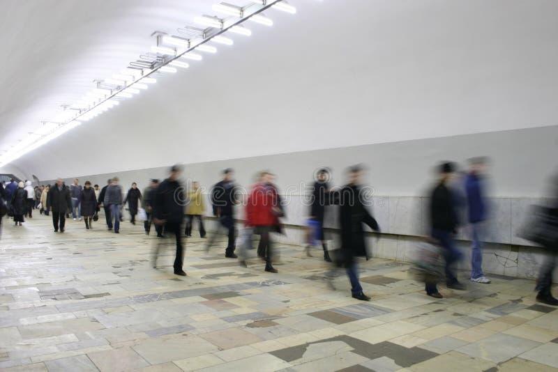 走廊人群 免版税图库摄影