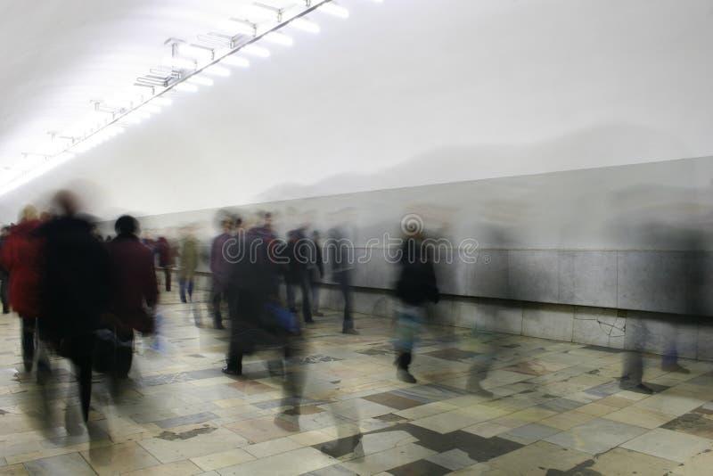 走廊人群 免版税库存图片