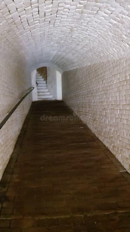 走廊和台阶在堡垒barrancas 图库摄影