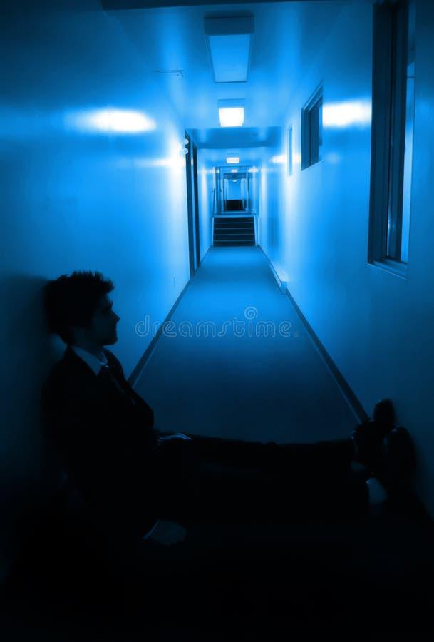 走廊坐 库存图片