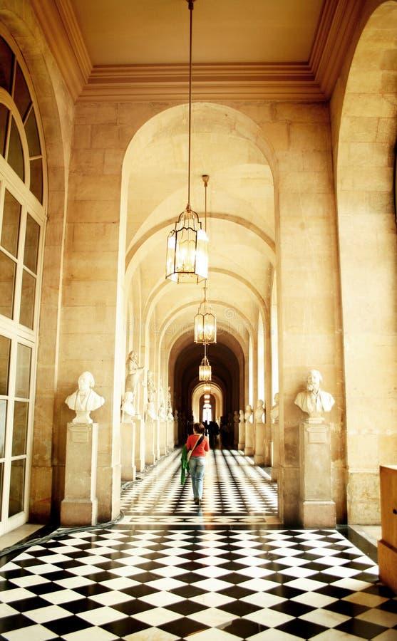 走廊宫殿s凡尔赛 库存照片