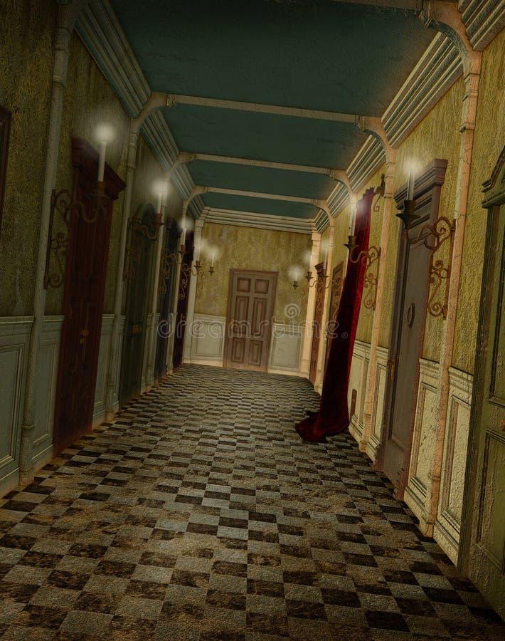 走廊幻想闪亮指示 向量例证