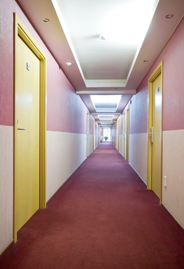 走廊旅馆 免版税库存照片