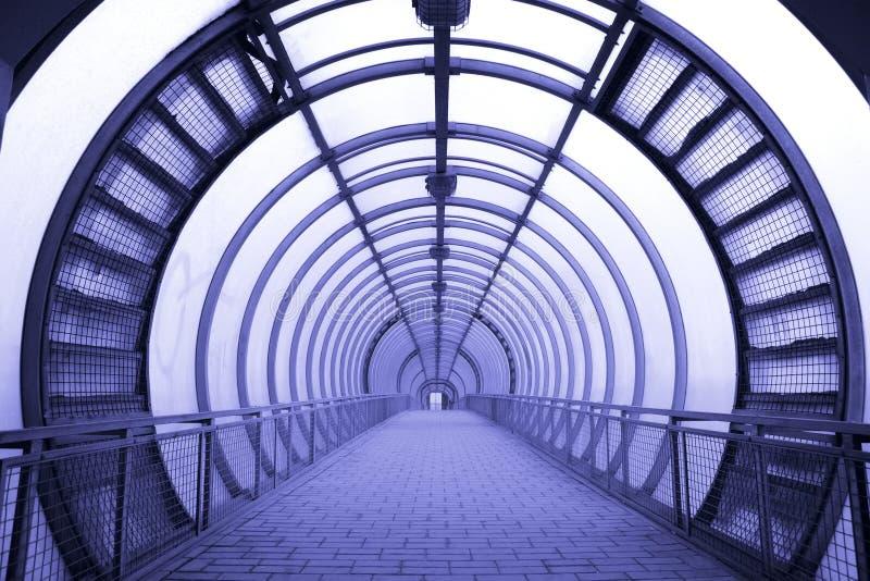 走廊未来派玻璃 免版税库存图片