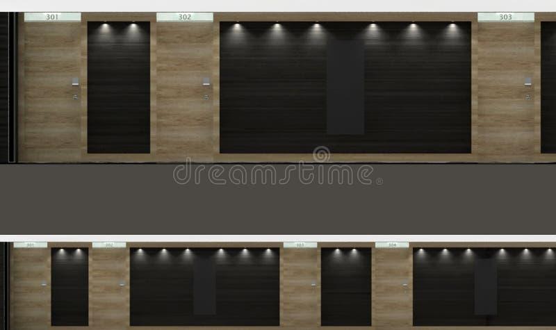 走廊电梯 库存例证