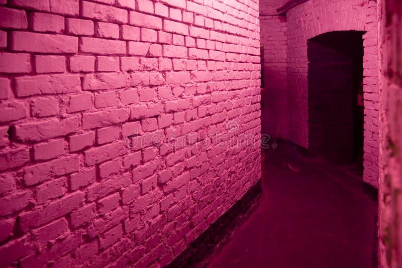 走廊粉红色 库存照片
