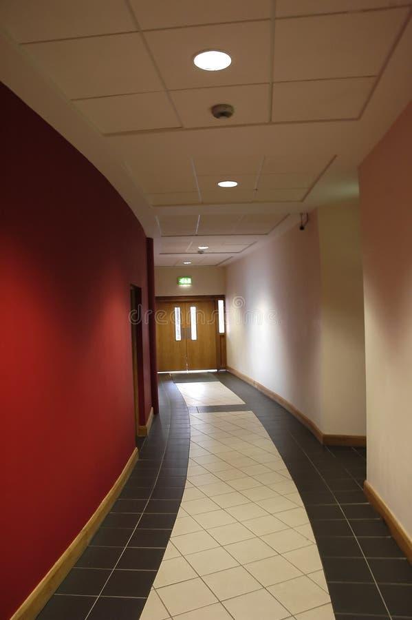 走廊红色 库存图片