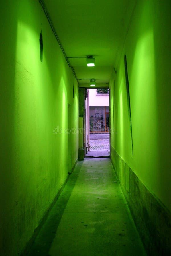 走廊绿色 库存图片