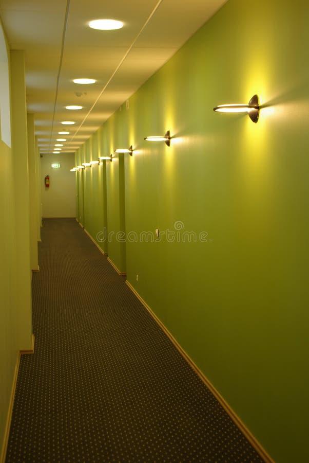 走廊绿色 库存照片