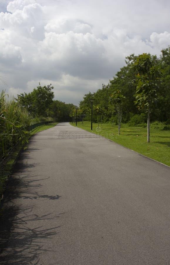 走的和循环的道路 图库摄影