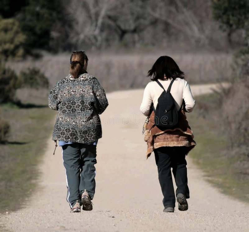 走的妇女 免版税图库摄影