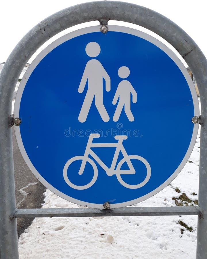 走的自行车标志 免版税库存图片