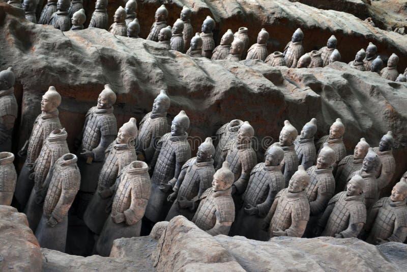 走离XI的`的,中国赤土陶器战士较近 它` s每t 库存图片