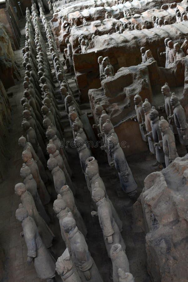走离XI的`的,中国赤土陶器战士较近 它` s每t 库存照片
