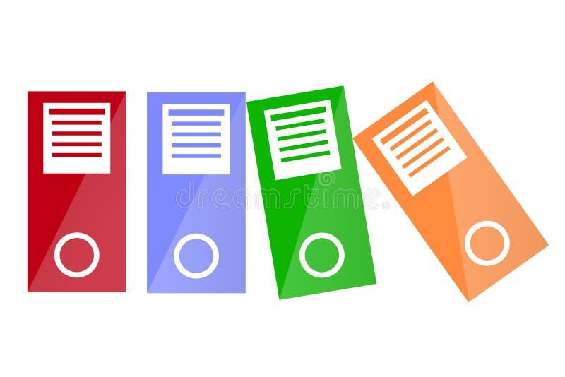 走路的黏合剂或文件老板,白色的 库存例证