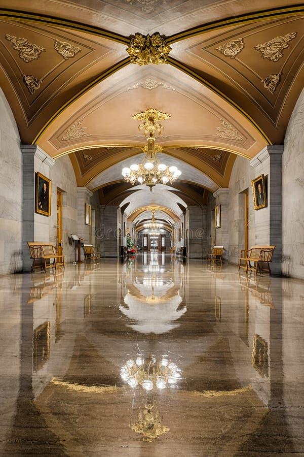 走廊反射在纳稀威 库存照片