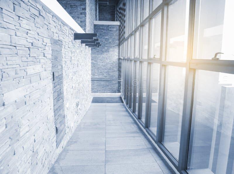 走廊室内现代 免版税库存图片