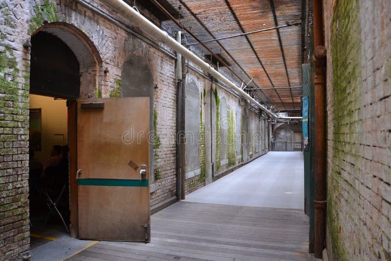 走廊,阿尔卡特拉斯岛-旧金山 库存图片