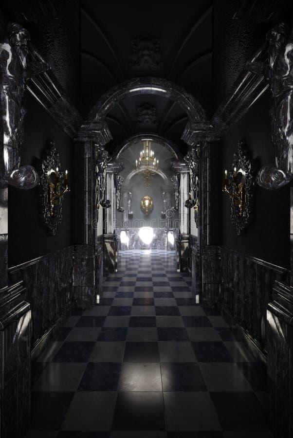 黑走廊 库存图片