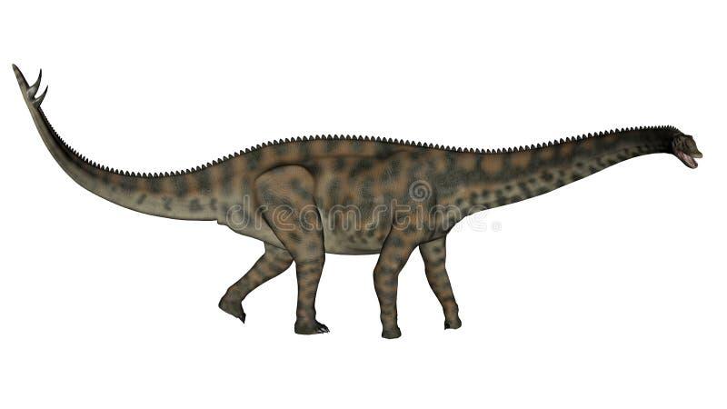 走Spinophorosaurus的恐龙- 3D回报 皇族释放例证