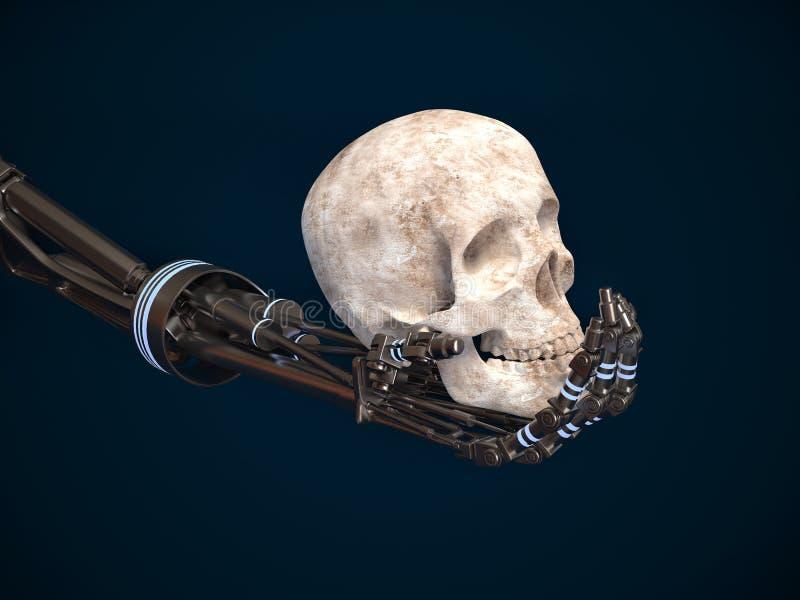 起义机器的概念 3d美元形象现有量机器人 皇族释放例证