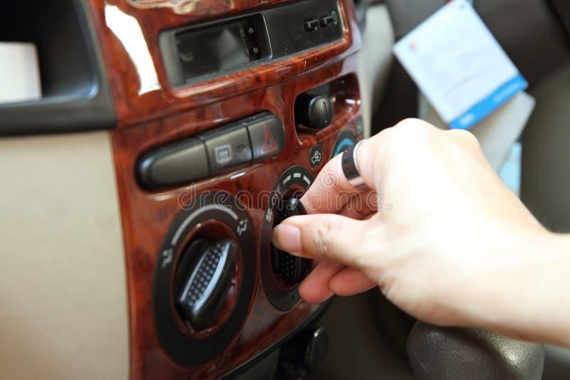 起动汽车空调器 库存照片