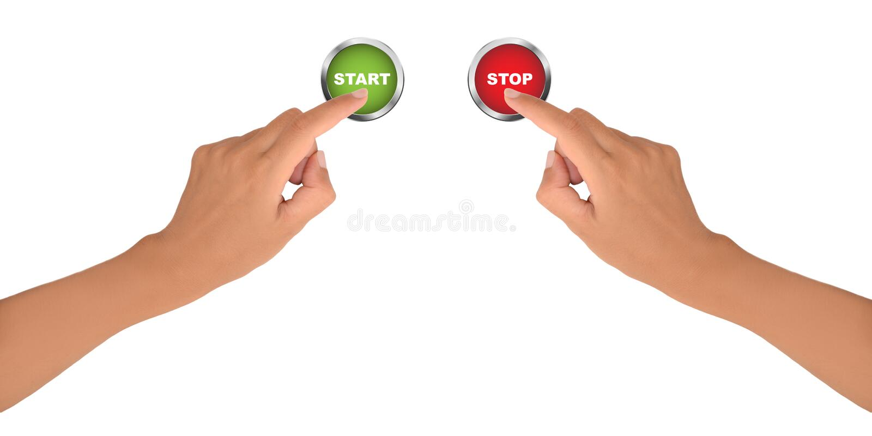 起始时间和终止 库存例证