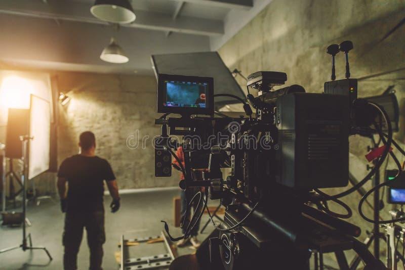 起始电影摄影机 免版税库存图片