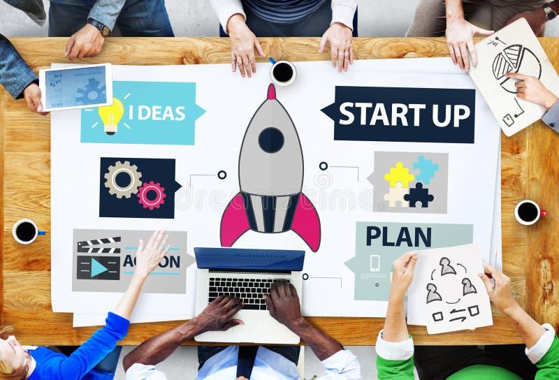 起始的创新计划想法队成功概念 免版税库存照片