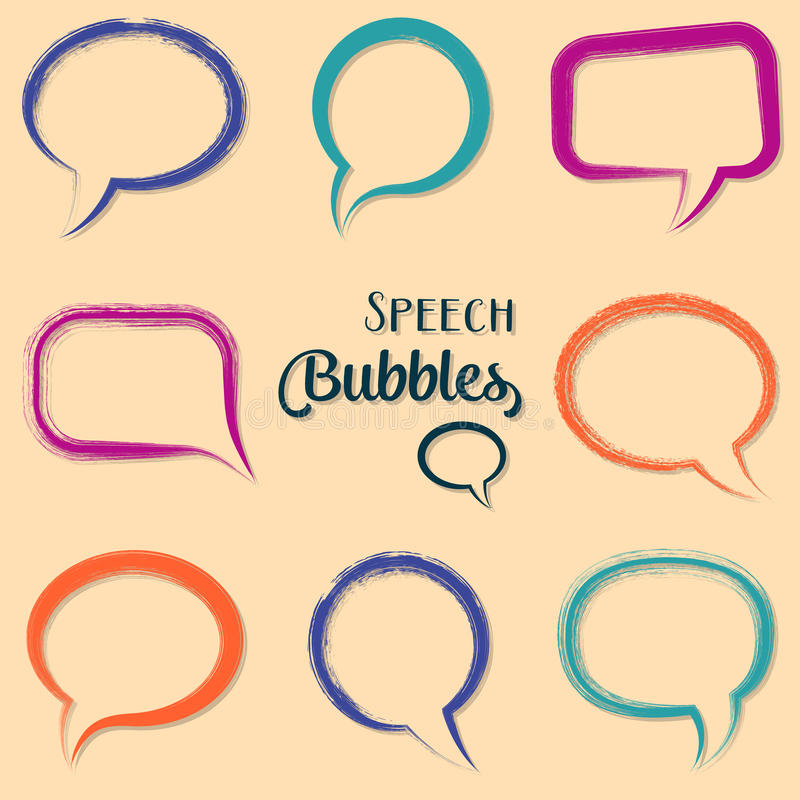 起泡五颜六色的演讲 向量例证