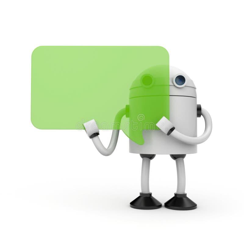 起泡机器人演讲 向量例证